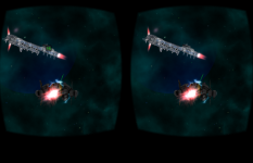 Cardboard 3D VR Space FPS game: Take a screenshot